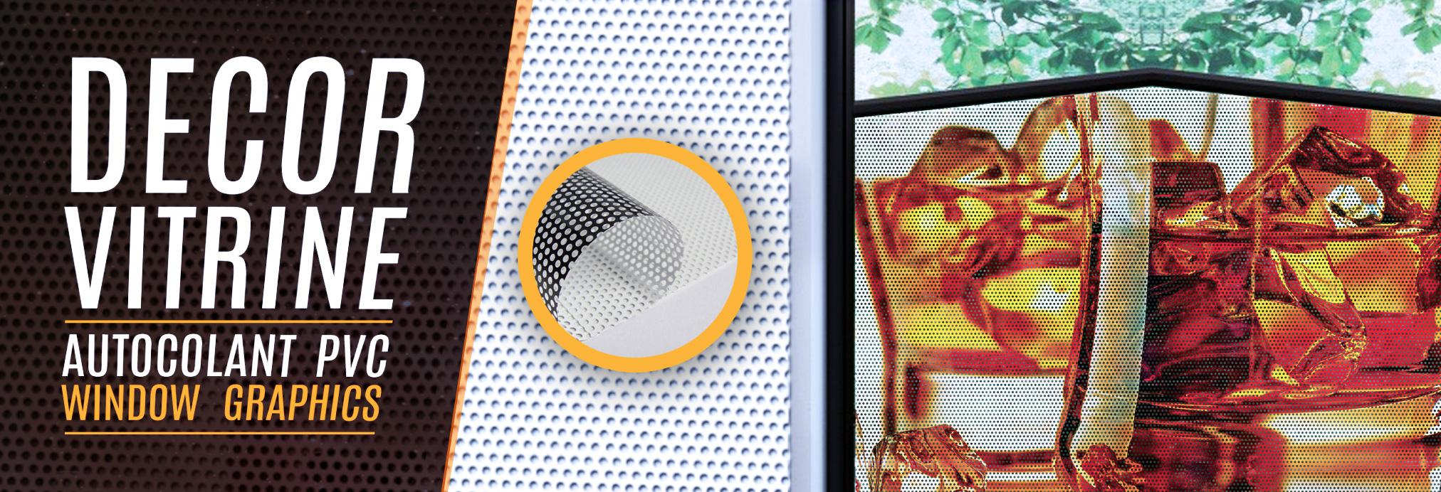 Window graphics decor vitrine