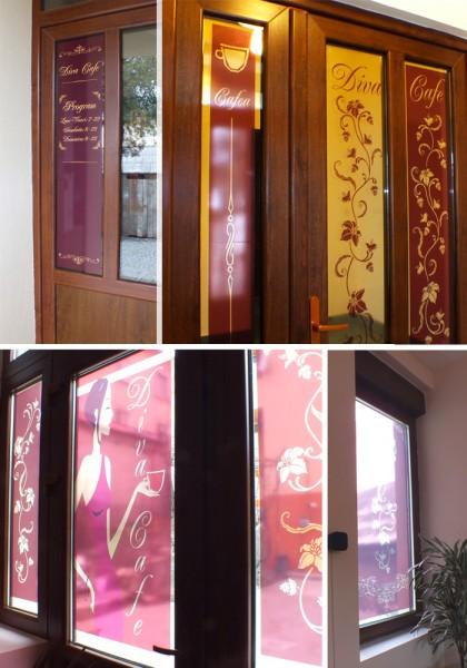 Autocolante decorative personalizate, decor vitrine, pereti, casete luminoase