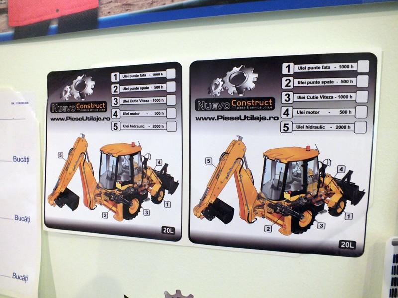 Etichete autocolante PVC personalizate
