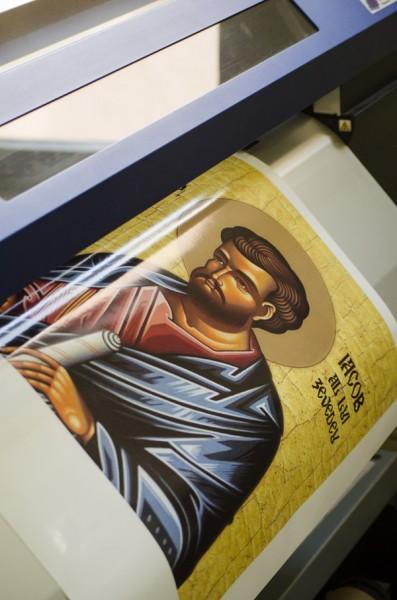 Print icoane material textil canvas
