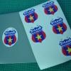 Print stickere cu decupare pe contur emblema Steaua